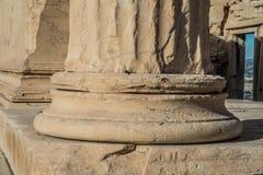 Greek columns atop the Athens Acropolis royalty free stock photos