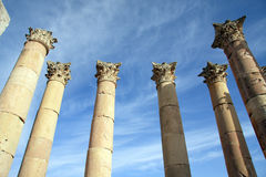 Greek Columns. In blue sky Royalty Free Stock Image