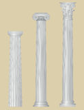 Greek columns with details royalty free illustration