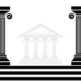 Greek columns Royalty Free Stock Images
