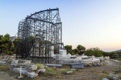 Greek columns in restoration Royalty Free Stock Photography