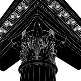 Greek Corinthian Column 01. Greek High Detail Corinthian Column Royalty Free Stock Images