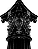 Greek Corinthian Column Vector 03. Greek High Detail Corinthian Column Vector Stock Image
