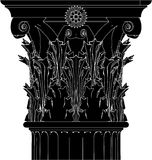 Greek Corinthian Column Vector 04 Stock Images