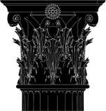 Greek Corinthian Column Vector 04. Greek High Detail Corinthian Column Vector Stock Images