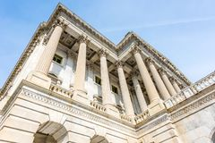 Greek Corinthian Columns of the US House of Representatives. The massive Corinthian columns stand tall at the United States House of Representatives on Capitol Stock Image