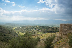Greek countryside landscape Royalty Free Stock Images