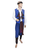 Greek cretan national man clothes costume on mannequin isolated Stock Photo
