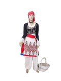 Greek cretan national woman clothes costume on mannequin isolate Stock Photos