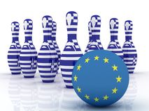Greek crisis. Greece vs Europe Stock Photos