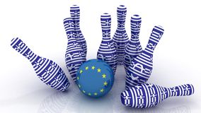 Greek crisis. Greece vs Europe Royalty Free Stock Image