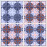 Greek cross seamless pattern Royalty Free Stock Photos