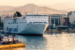 Greek cruise ship Stock Image