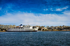 Greek cruise ship Royalty Free Stock Photo