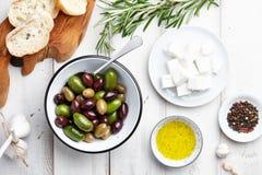 Greek cuisine ingredients Royalty Free Stock Images