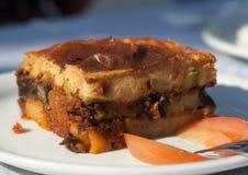 Greek cuisine. Moussaka. Stock Images