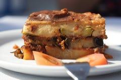 Greek cuisine. Moussaka. Stock Image