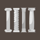 Greek Culture Antique Columns Set Vector Stock Photo