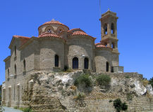 Greek Cypriot Church. Against a blue summer sky Royalty Free Stock Photo