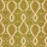 Greek 3d textured vector seamless pattern. Light green abstract. Geometric patterned background. Doodle fantastic shapes, circles, spiral, greek key, meanders Stock Image