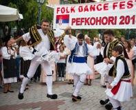 Greek Dancers Royalty Free Stock Image