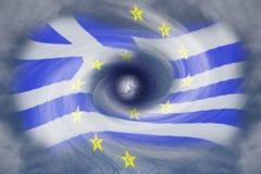 Greek debt crisis. A symbolic image from the Greek debt crisis vector illustration
