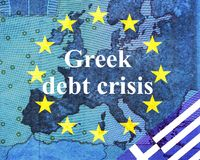 Greek debt crisis Stock Photo