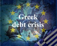 Greek debt crisis Royalty Free Stock Images