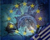 Greek debt crisis Stock Image