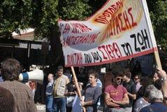 Greek demonstration Stock Image