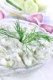 Greek  dip with cucumber and yogurt Royalty Free Stock Images