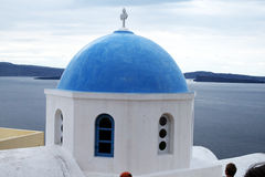 Greek dome Stock Photography