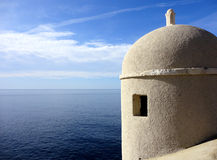 Greek dome over the adriatic. Byzantine dome over adriatic ocean Royalty Free Stock Image
