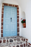 Greek door Stock Photography