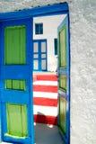 Greek door Royalty Free Stock Photo