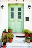 Greek door Royalty Free Stock Photo