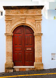 Greek Door Stock Photo