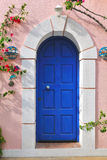 Greek door Stock Image