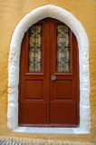 Greek door Royalty Free Stock Photos