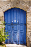 Greek door Royalty Free Stock Images