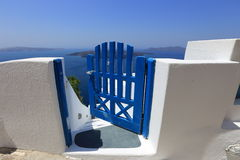 Greek door on Santorini, Greece Royalty Free Stock Photos