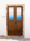 Greek door and window. Stock Photo