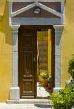 Greek doorway royalty free stock photo