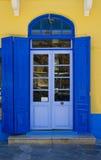 Greek doorway Royalty Free Stock Image