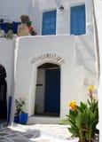 Greek doorway Stock Photos