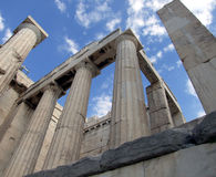 Greek doric columns stock photography