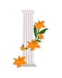 Greek Doric columns order vintage design Vector illustration Royalty Free Stock Photos