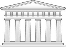 Greek Doric Temple Stock Image