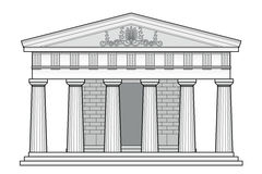 Greek Doric temple Royalty Free Stock Photo