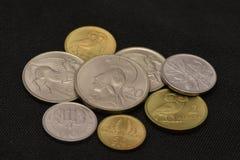 Greek Drachma Coin Vintage money stock photos